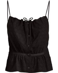 Raey - Button Through Broderie Anglaise Cami Top - Lyst