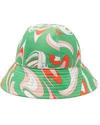 Emilio Pucci Vortici-print Twill Bucket Hat - Green