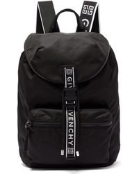 Givenchy Light 3 Leather Trimmed Nylon Backpack - Black