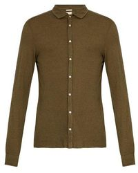 Massimo Alba - Spread-collar Cotton And Cashmere-blend Shirt - Lyst