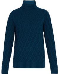 Inis Meáin - Trellis Cable Knit Roll Neck Jumper - Lyst