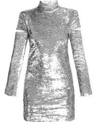Helmut Lang - High-neck Sequin-embellished Mini Dress - Lyst
