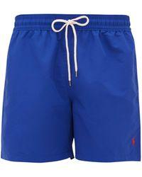 Polo Ralph Lauren Logo-embroidered Swim Shorts - Blue