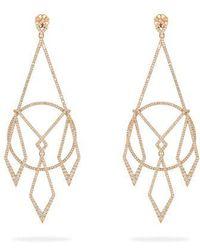 Diane Kordas - Diamond & 18kt Rose Gold Earrings - Lyst