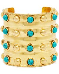 Sylvia Toledano - Massai Dots Turquoise Stone Cuff - Lyst