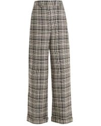 Off-White c/o Virgil Abloh - Tomboy Galles High-rise Wide-leg Checked Trousers - Lyst