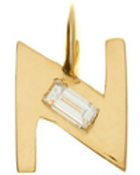 Lizzie Mandler デコ ダイヤモンド 18kゴールドチャーム N-z - マルチカラー