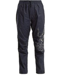 Maharishi - Tiger-embroidery Cotton Trousers - Lyst