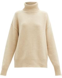 Extreme Cashmere No. 20 Oversize Xtra Stretch-cashmere Sweater - Natural