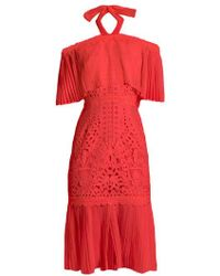 Temperley London Berry Lace Off-the-shoulder Dress - Black