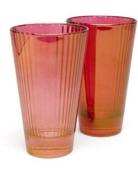 Luisa Beccaria Set Of Two Isis Water Glasses - Red