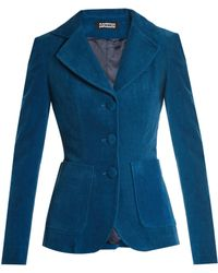 Rockins - Single-breasted Cotton-blend Corduroy Jacket - Lyst