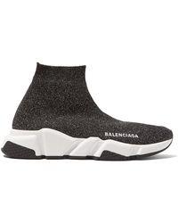 Balenciaga - Speed Lt Lurex Knit Sneakers - Lyst