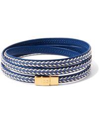 Dolce & Gabbana メッシュレザーブレスレット - ブルー