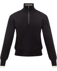 Maison Margiela ジップネック ウールセーター - ブラック