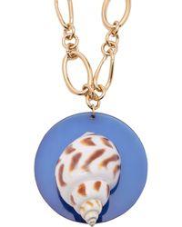 Rebecca de Ravenel - Sirena Shell And Gold Plated Pendant Necklace - Lyst