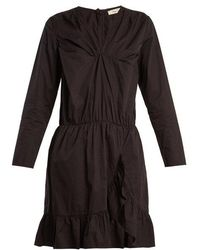 Mes Demoiselles - Amazone V-neck Ruffle-trimmed Cotton Dress - Lyst