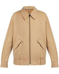 Burberry - Harrington Cotton Gabardine Jacket - Lyst