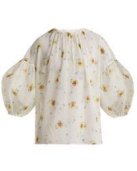 Giambattista Valli - Silk-georgette Floral-print Blouse - Lyst