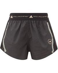 adidas By Stella McCartney Truepace Mesh-insert Recycled Fibre-blend Shorts - Black