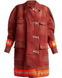 CALVIN KLEIN 205W39NYC - Oversized Cotton Twill Firefighter Coat - Lyst