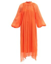 Mara Hoffman エドモニア テンセル シフォンドレス - オレンジ
