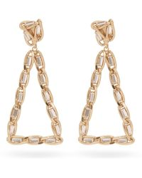 Rosantica By Michela Panero Crystal Triangle Clip Earrings - Metallic