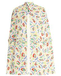 Duro Olowu - Abstract Bird-print Crepe Cape - Lyst