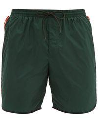 Gucci Tape-logo Swim Shorts - Green