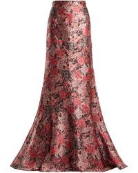 Erdem - Clement Rose Jacquard Maxi Skirt - Lyst