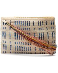 Sophie Anderson - Lia Woven Toquilla Clutch - Lyst