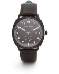 Larsson & Jennings Mk I Pilot Stainless-steel And Leather Watch - Black