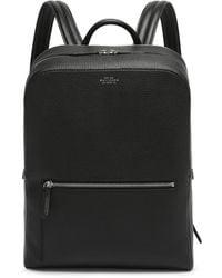 Smythson Ludlow Grained-leather Backpack - Black
