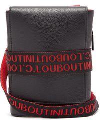 Christian Louboutin Benech Reporter Leather Cross-body Bag - Black