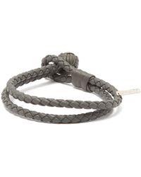 Bottega Veneta - Double-wrap Leather Bracelet - Lyst