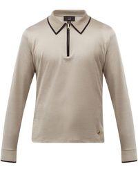 Dunhill ファスナーカラー コットンポロシャツ - マルチカラー