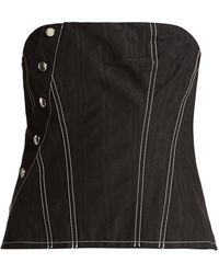Marques'Almeida Snap Cotton-blend Corset - Black