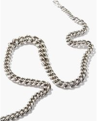 Paul Smith T-bar Curb-link Necklace - Metallic
