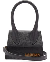 Jacquemus Le Chiquito Grained Leather Cross Body Bag - Black