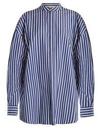 Awake - Oversized Striped Cotton Shirtdress - Lyst