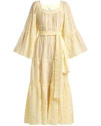 Lisa Marie Fernandez - Striped Seersucker Maxi Dress - Lyst