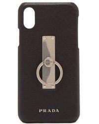 Prada - Iphone X Leather Ring Back Case - Lyst