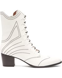Tabitha Simmons - Swing Lace Up Leather Boots - Lyst