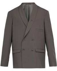 Lemaire - Double-breasted Wool Blazer - Lyst
