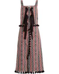 Altuzarra Robe en jacquard à losanges Villette - Multicolore