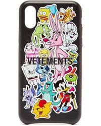 Vetements モンスターズ Iphone Xs レザーケース - マルチカラー
