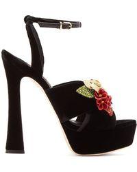 Sophia Webster - Lilico Crystal-embellished Suede Platform Sandals - Lyst
