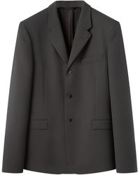 Lemaire Single-breasted Cavalry-twill Blazer - Grey