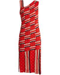 Tabula Rasa Anat Asymmetric-neckline Cotton Dress - Red