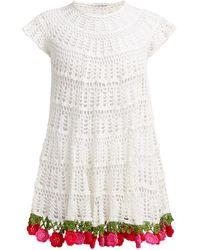 MY BEACHY SIDE Carmen Cotton-crochet Mini Dress - White
